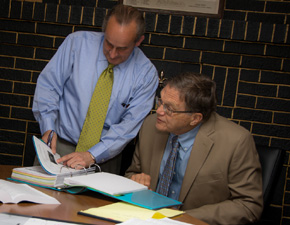 Attorneys Thomas Dickey and David J. Kaltenbaugh